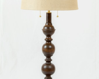 Cherry Table Lamp, A.B. Thomas Original, Handmade, Solid Brass Hardware