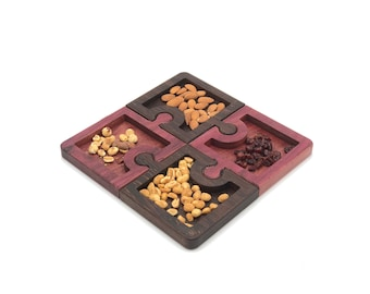 Puzzled™ Wood Snack Trays