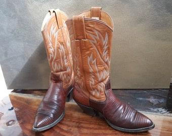 653b8d1f336 Lizard skin boots | Etsy