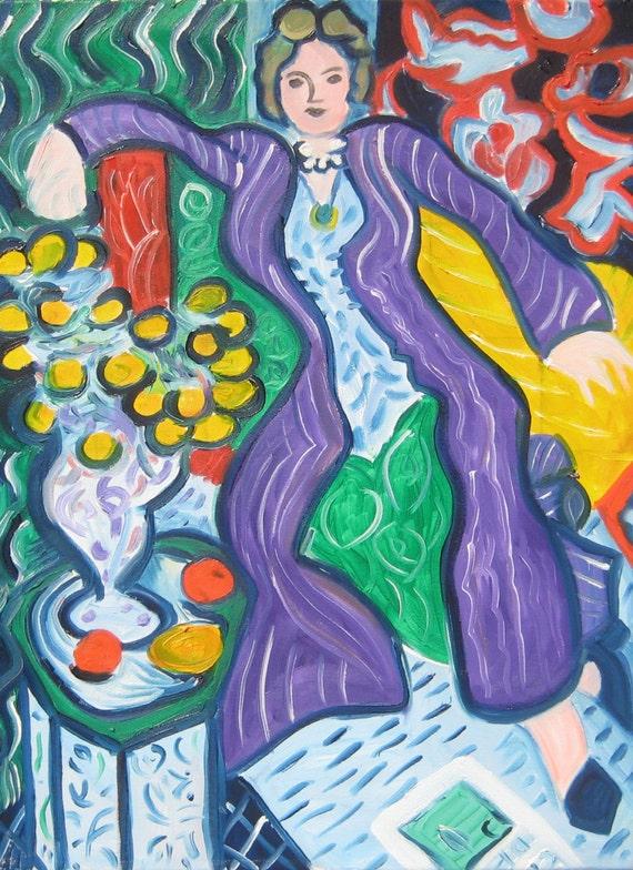 Femme au manteau violet matisse
