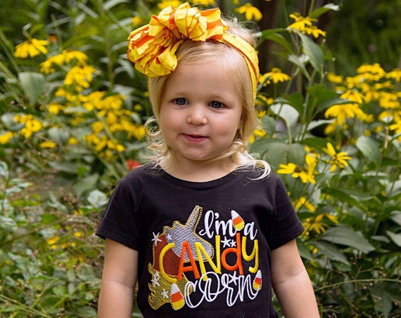 I'm a Candy Corn Embroidered Halloween Shirt - Halloween Unicorn Shirt - Girls Halloween Shirt - Halloween Unicorn Shirt - Candy Corn Shirt