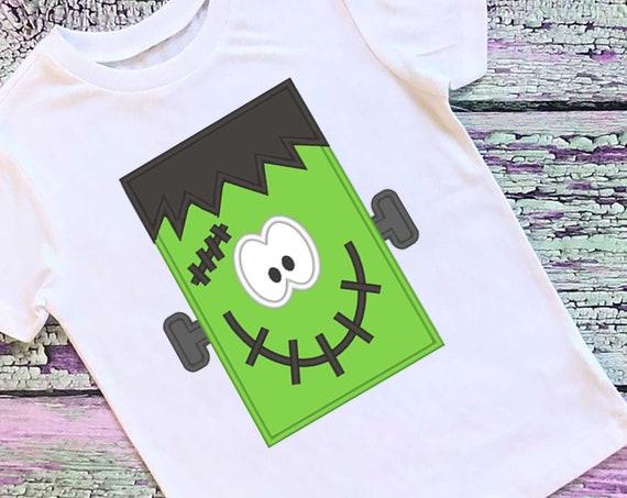 SAMPLE SALE, Franken Boy Embroidered Halloween Shirt - Kids Halloween Shirt - Boys Halloween Shirt - Fall Shirt - Frankenstein