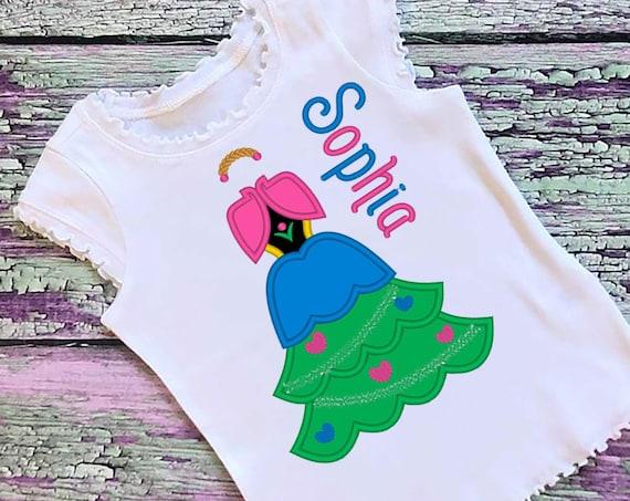 SAMPLE SALE, Anna Christmas Tree Embroidered Shirt - Frozen - Disney Princess - Disney Christmas Vacation - Mickey Very Merry Christmas