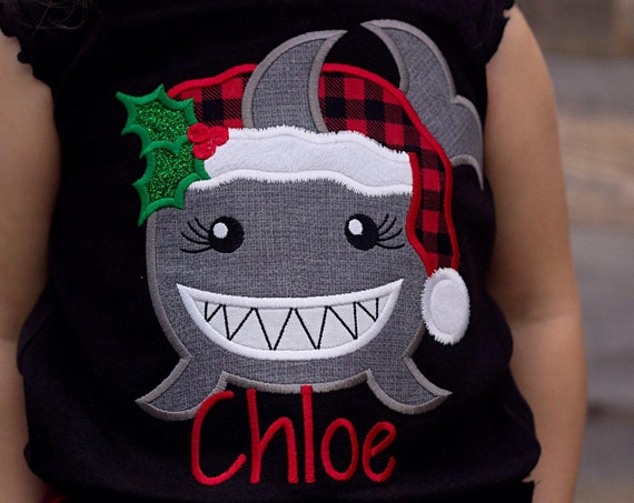Girl Baby Shark Christmas Shirt - Girls Christmas Shirt - Christmas Shark Shirt - Boys Christmas Shirt - Baby Shark Song -Baby Shark Doo Doo