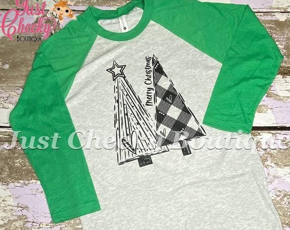 READY TO SHIP, Merry Christmas Screen Print Shirt-Adult Christmas Shirt -Mom Christmas Shirt -