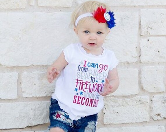 From Sparkler to Firework - Girls 4th of July Shirt - Boys 4th of July Shirt - Kids Patriotic Shirt - Independence Day Shirt