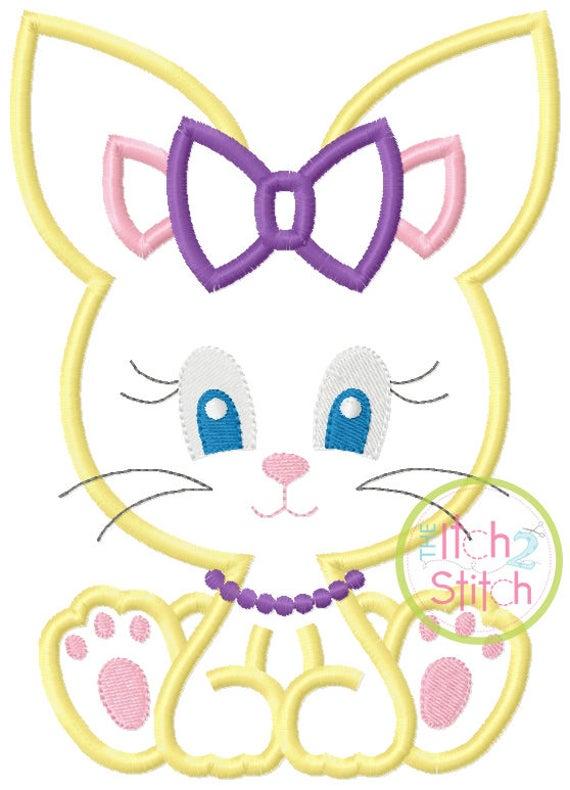 SAMPLE SALE, Sitting Bunny Girl- Kids Easter Embroidered Shirt -Girls Easter Shirt -Boys Easter Shirt  -Easter Sunday