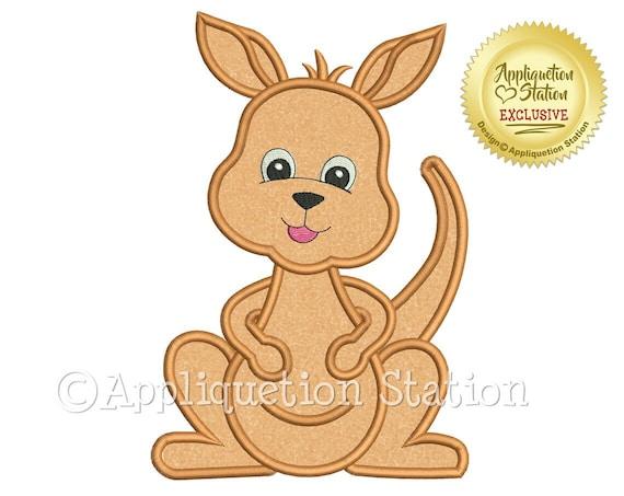 SAMPLE SALE, Kangaroo Embroidered Shirt - Down Under - Baby Kangaroo - Girl Kangaroo - Boy Kangaroo - Kids Zoo Shirt