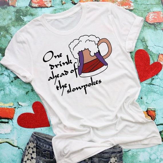 One Drink Ahead Shirt-Drinking Shirt-Drinking Around the World Shirt-Epcot Shirt-Aladdin - Wine Glass