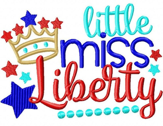 SAMPLE SALE, Little Miss Liberty - Girls 4th of July Shirt - Boys 4th of July Shirt - Kids Patriotic Shirt - Independence Day Shirt