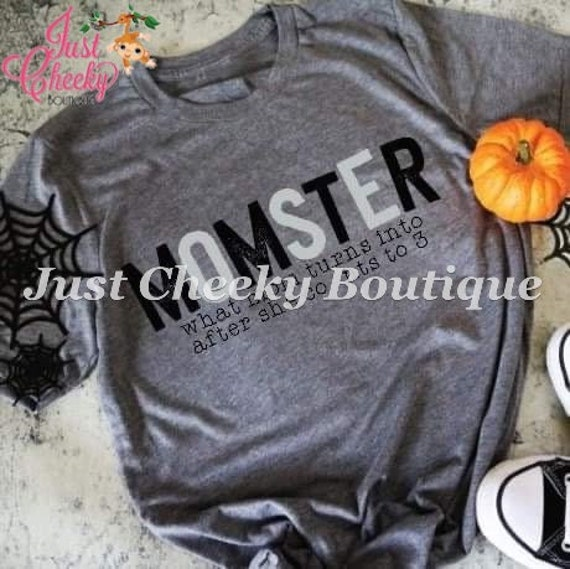 Halloween Momster Screen Print Shirt-Mom Shirt-Funny Shirt-Halloween Shirt-Mom Halloween Shirt-Fall Shirt-Pumpkin-Leopard