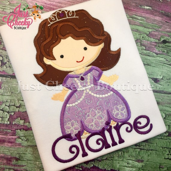First Princess Cutie as Sofia the First Embroidered Shirt