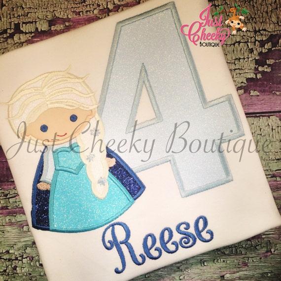 Ice Queen Cutie as Elsa from Frozen Birthday Shirt