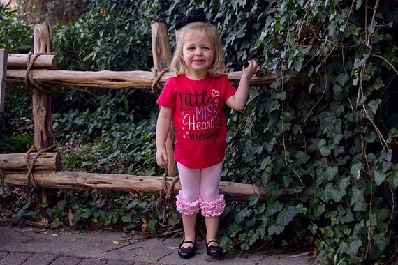 Little Miss Heart Breaker -  Valentine's Day Embroidered Shirt - Girls Valentine's  Shirt - Boys Valentine's Shirt - February 14
