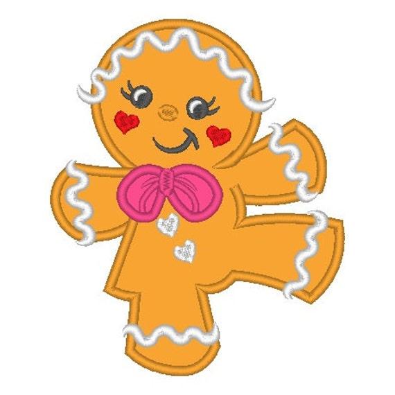 SAMPLE SALE, Dancing Gingerbread Girl Embroidered Shirt - Christmas Shirt - Girls Christmas Shirt - Gingerbread Shirt - Kids Christmas Shirt