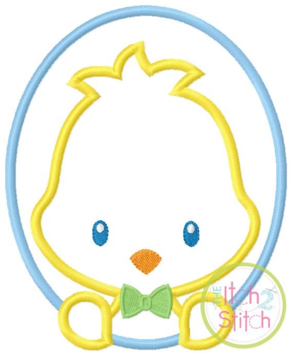 SAMPLE SALE, Oval Chick  Boy - Kids Easter Embroidered Shirt -Girls Easter Shirt -Boys Easter Shirt  -Easter Sunday