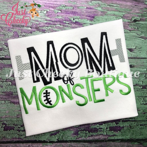 Mom of Monsters Embroidered Halloween Shirt-Matching Halloween Shirt-Kids Halloween Shirt-Boys Halloween Shirt-Fall Shirt-Ghost