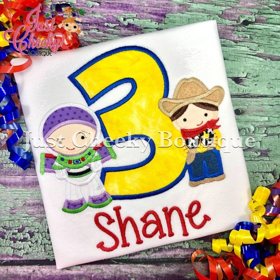Space Ranger and Sheriff Toy Story Birthday Shirt- Buzz Lightyear Birthday Shirt - Woody Birthday Shirt - Disney Vacation - Disney Trip