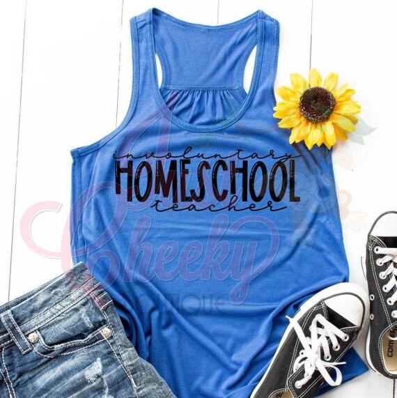 Involuntary Homeschool Teacher Shirt-Homeschool Mom Shirt-Quarantine Shirt-Social Distancing Shirt-Wash Your Hands-Apocalypse 2020