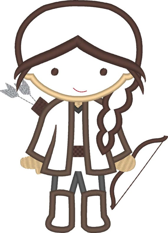 SAMPLE SALE, Archer Girl Cutie Inspired Embroidered Shirt - Archery Birthday Shirt - Bow Hunting Girl - Hunger Games - Bow and Arrow -