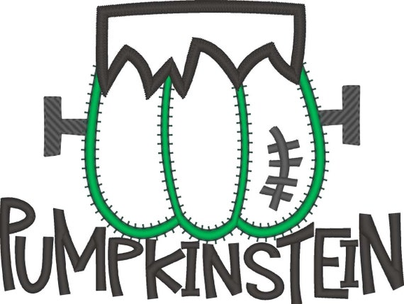 SAMPLE SALE, Pumpkinstein Embroidered Halloween Shirt - Kids Halloween Shirt - Boys Halloween Shirt - Fall Shirt - Frankenstein