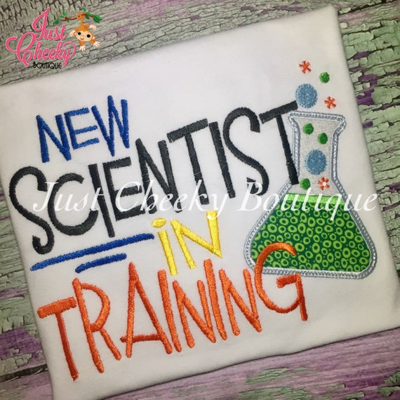 New Scientist in Training Embroidered Boys Shirt -Back to School Shirt -First Day of School Shirt -Kindergarten 1st 2nd-Graduation Shirt