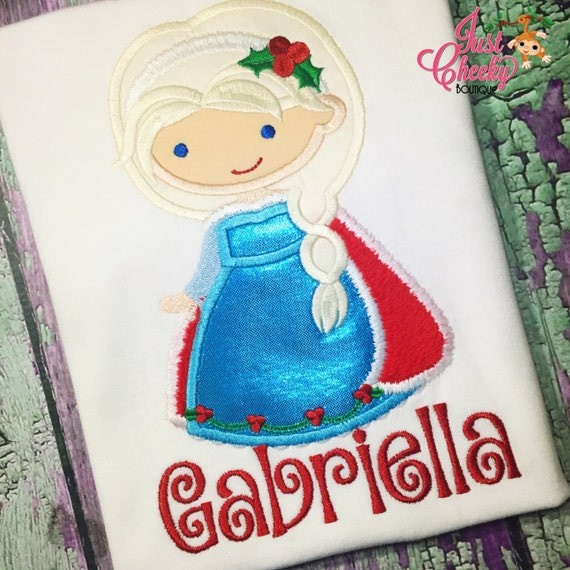 Queen Elsa Christmas Cutie Embroidered Shirt - Frozen Anna - Queen Elsa - Disney Princess - Disney Christmas Vacation -