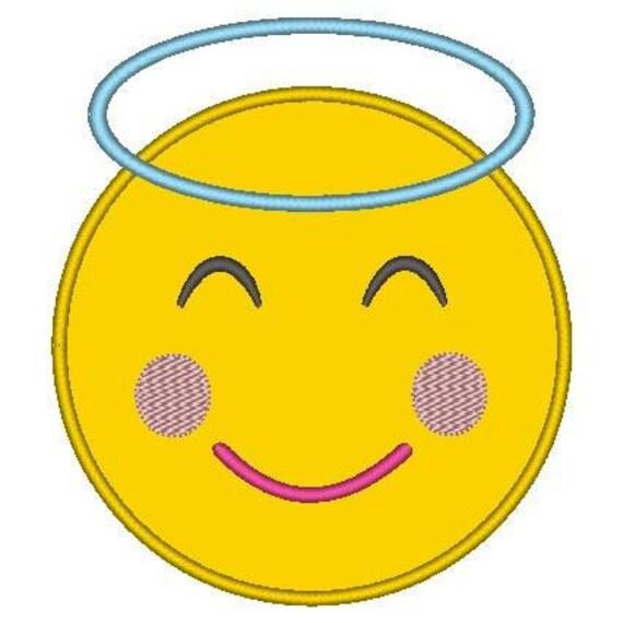 SAMPLE SALE, Angel Emoji Embroidered Shirt - Emoji Birthday - Emoji Birthday Shirt - Emoji Party - Emoji Movie