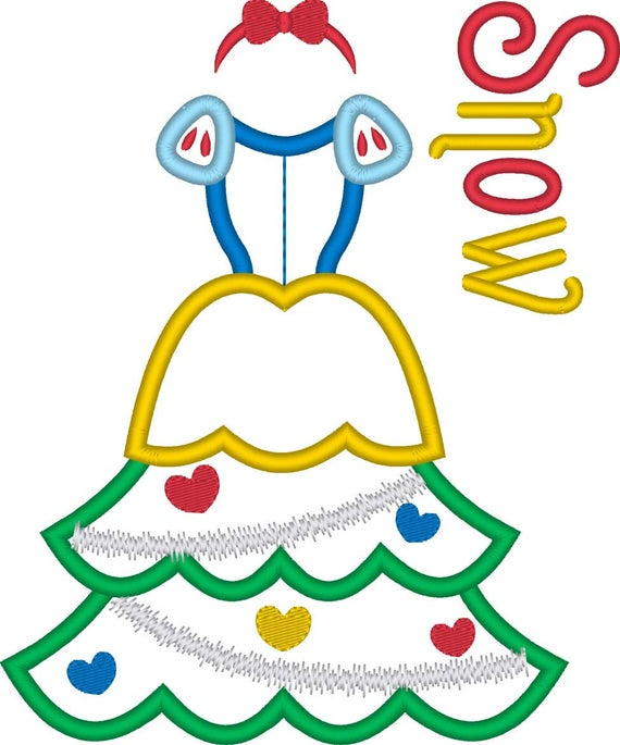 SAMPLE SALE, Snow White Christmas Tree Embroidered Shirt-Fairest of them All-Disney Princess-Disney Christmas Vacation-Very Merry Christmas