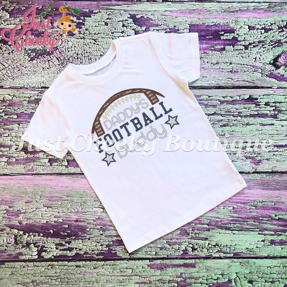 SAMPLE SALE, Daddy's Football Buddy Embroidered Thanksgiving Shirt-Kids Thanksgiving Shirt-Boys Thanksgiving Shirt-Girls Thanksgiving Shirt