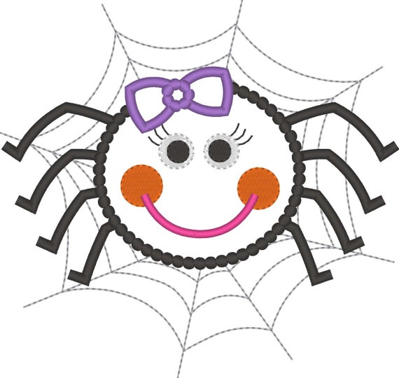 SAMPLE SALE, Girly Spider Embroidered Halloween Shirt - Kids Halloween Shirt - Boys Halloween Shirt - Girls Halloween Shirt - Spider Web