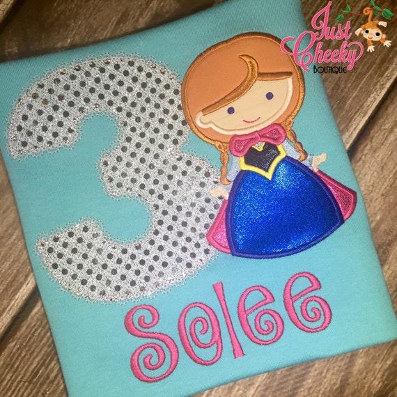 Snow Princess Cutie as Anna from Frozen Birthday Shirt - Frozen Birthday Shirt - Disney Vacation - Queen Elsa - Arendelle - Princess Anna