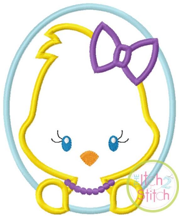 SAMPLE SALE, Oval Chick Girl- Kids Easter Embroidered Shirt -Girls Easter Shirt -Boys Easter Shirt  -Easter Sunday