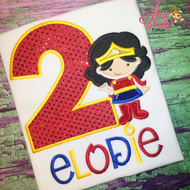 Wonder Woman Inspired Cutie Birthday Shirt