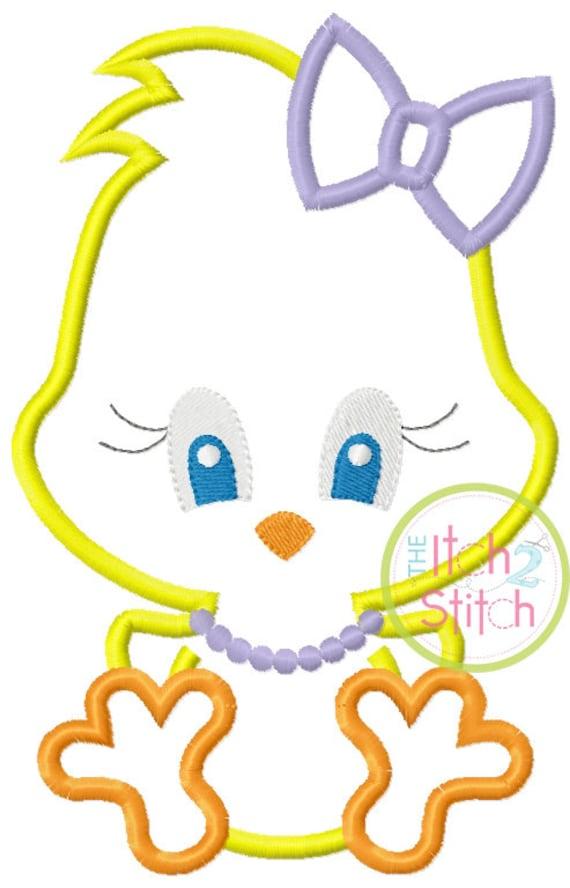 SAMPLE SALE, Sitting Chick Girl- Kids Easter Embroidered Shirt -Girls Easter Shirt -Boys Easter Shirt  -Easter Sunday