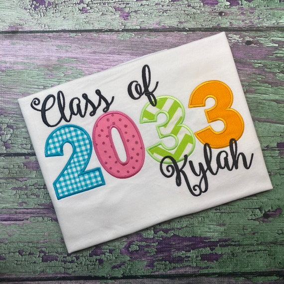 Kids Back to School Embroidered Shirt - First Day of School Shirt- Grow With Me Shirt - Watch Me Grow - Kids Graduation Shirt-Pastel Rainbow