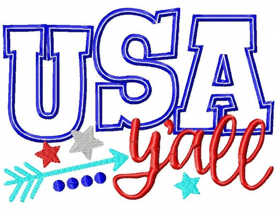 SAMPLE SALE, USA Y'all - Girls 4th of July Shirt - Boys 4th of July Shirt - Kids Patriotic Shirt - Independence Day Shirt