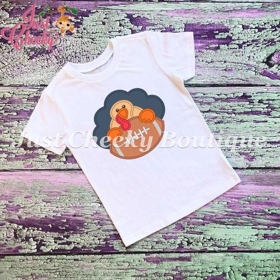 SAMPLE SALE Turkey Football Embroidered Thanksgiving Shirt-Kids Thanksgiving Shirt-Boys Thanksgiving Shirt-Girls Thanksgiving Shirt