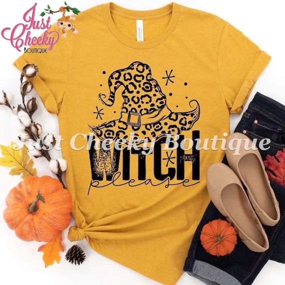 Leopard Witch Please Screen Print Shirt-Mom Shirt-Funny Shirt-Sarcastic Shirt-Hall0ween Shirt-Mom Halloween Shirt-Fall Shirt-Pumpkin-Leopard