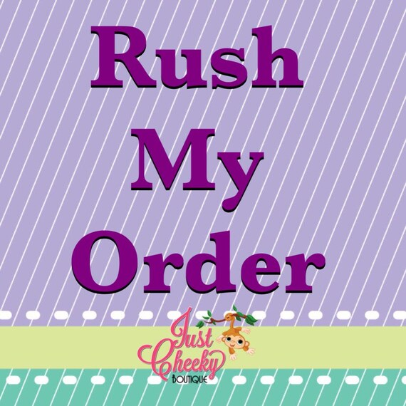 Rush Fee with Priority Mail Shipping