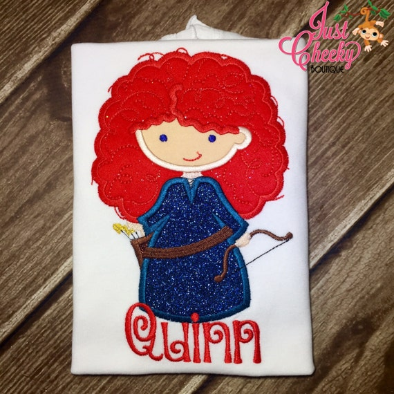 Princess Archer Girl Cutie as Merida Embroidered Shirt