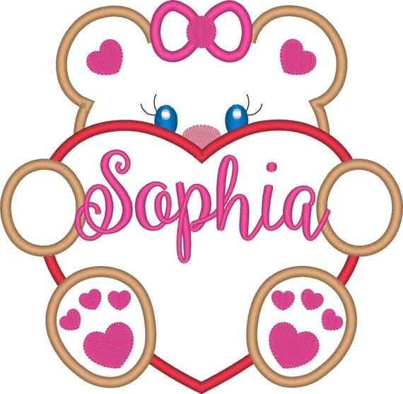 SAMPLE SALE, Girl Teddy Bear Valentine -  Valentine's Day Embroidered Shirt - Girls Valentine's  Shirt - Boys Valentine's Shirt - February 1