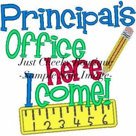 Principal's Office Here I Come Embroidered Shirt -Back to School Shirt -First Day of School Shirt -Kindergarten 1st 2nd-Graduation Shirt