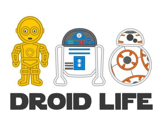 Droid Life Shirt-Star Wars Inspired-Kids Embroidered Shirt-Force Friday Shirt -Star Wars Birthday Shirt-BB8 Shirt-R2D2 Shirt-C-3PO Shirt