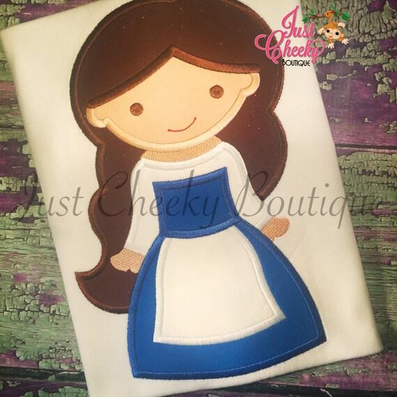Princess Beauty Cutie Belle Embroidered Shirt - Villager Belle - Bonjour - Disney Princess Shirt - Disney Vacation