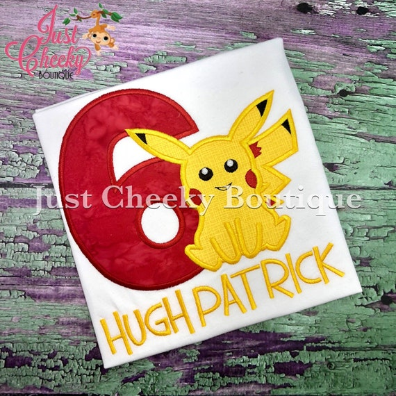 Pocket Monster Birthday Shirt - Pokemon Birthday Shirt - Pikachu Birthday Shirt - Gotta Catch 'Em All - Poke Ball