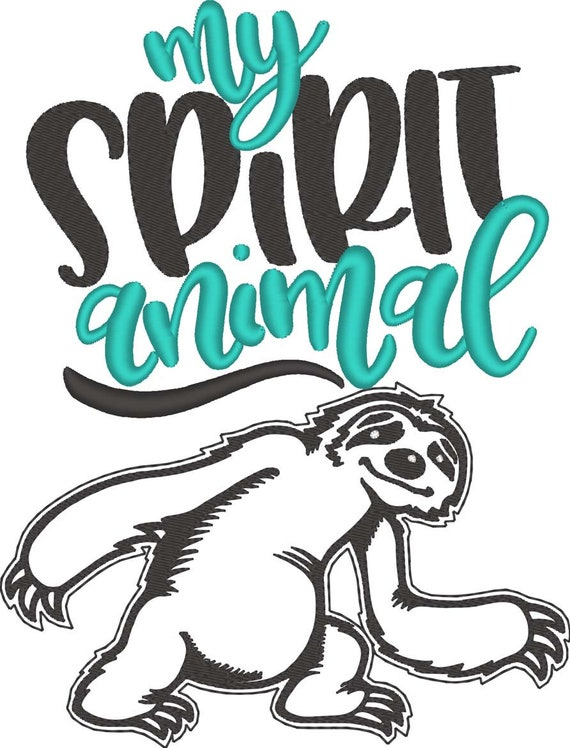 SAMPLE SALE, Sloth Embroidered Shirt - My Spirit Animal - Sloth Birthday Party - Woodland Creature - Hanging Sloth - Kids Sloth Shirt