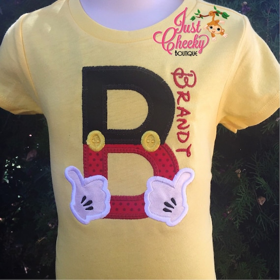 Boys Magical Hands Mickey Mouse Inspired Embroidered Shirt -Mickey Mouse Inspired Shirt -Disney Vacation -Mickey -Mickey Mouse Birthday