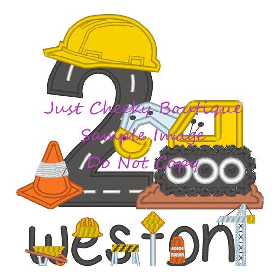 Construction Birthday Shirt - Digger Birthday Shirt - Construction Birthday Party - Road Construction - Excavator - Backhoe - Bulldozer