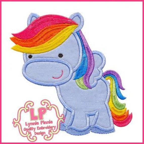 SAMPLE SALE, Pink Pony- My Little Pony Inspired Embroidered Shirt - Pinkie Pie Girls Shirt - My Little Pony Birthday Shirt